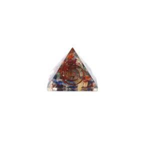 Mixed Crystal Orgone Pyramid 40