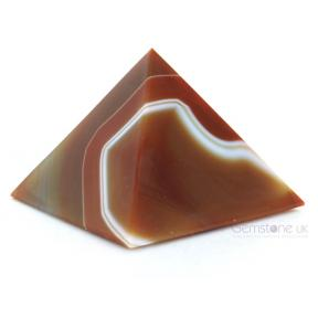 Agate, Brown Pyramid 5